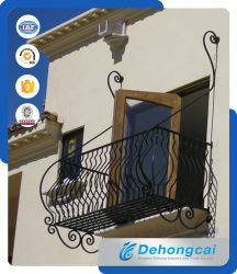 De het Standaard Woon Gegalvaniseerde Staal van de EU/Omheining van de Veiligheid van het Balkon van het Smeedijzer