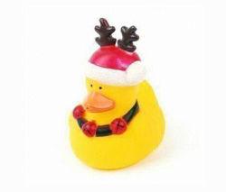 Het rubber Stuk speelgoed van het Bad, de RubberEend van het Rendier van de Vakantie van Kerstmis