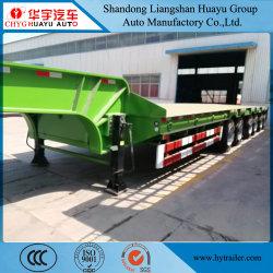 6 Sino Truk 트럭 헤드용 차축 중부하 작업용 100t 로우 베드 세미 트레일러 특수 차량