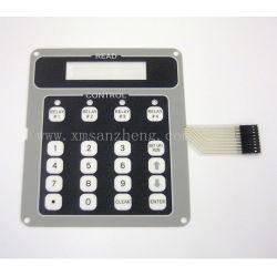 Résistant aux produits chimiques de petits numérotés en relief les panneaux de commande de l'interrupteur à membrane