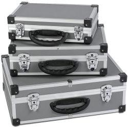 tragender Werkzeugkasten 3-in-1 mit Aluminiumrahmen-Plastikhilfsmittel-Kasten-kundenspezifischem Schaumgummi für Gerät