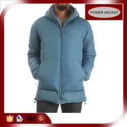 2015 Mens Trendy fermeture à glissière pleine lumière bleue Hoodie Down Jacket