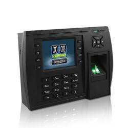 TFT (modelo 500) Gran capacidad, tiempo de Sistema de asistencia biométrico de huellas digitales