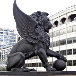 Decoração de jardim Leão de bronze da estátua de Animais
