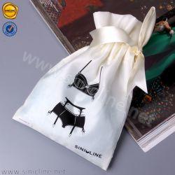 GarmentのためのSinicline Fashion Custom Packaging Satin Drawstring Bag
