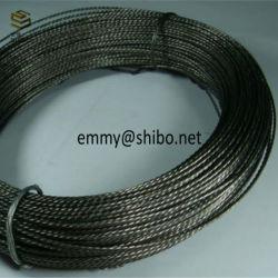 La máxima calidad del 99,95% de Tungsteno de trenzado de hilos trenzados de filamento de tungsteno