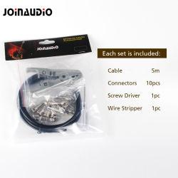 """Solderless Gitarren-Kabel-Installationssatz Pedalboard Abnehmer DIY mit 10 1/4 """" Ts-Stecker (4.2002B-3M)"""