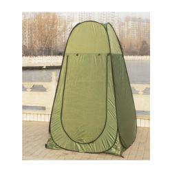 Il campeggio esterno portatile schiocca in su la tenda del bagno di acquazzone della toletta