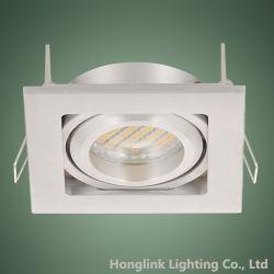 Aluminium de haute qualité Downlight encastré carré LED halogène logement