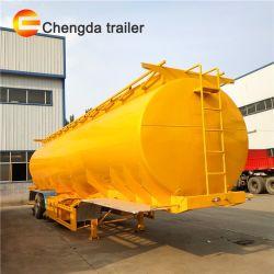 25-60 Cbm gasolina 3 Petrolero Semi-Trailer Eje para el transporte de petróleo crudo
