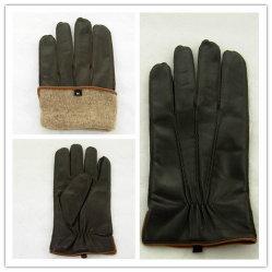 人(JYG-25198)のためのウールのライニングが付いている非常に柔らかいヒツジの皮手袋
