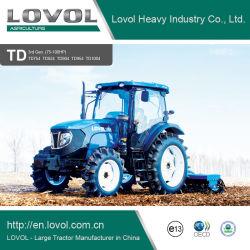 Foton Lovol 75-100Diesel de HP a pie de la agricultura de la rueda de tractores agrícolas