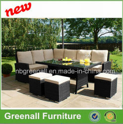 Neuer Entwurfs-im Freienrattan-Garten-Weidengaststätte-Ausgangssofa-Möbel