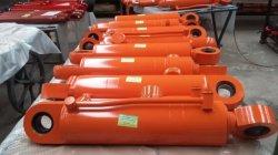 Gato hidráulico de doble efecto con tubo de aceite