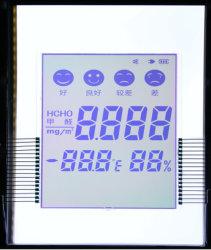 30 dígitos 7 visor LCD do segmento FSTN LCD Monocromático personalizados com LEDs laranja
