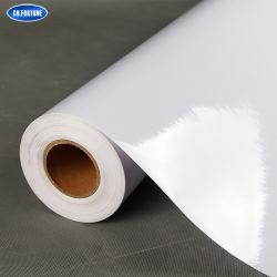 Белый ПВХ Self-Adhesive виниловая пленка со съемной емкости для клея