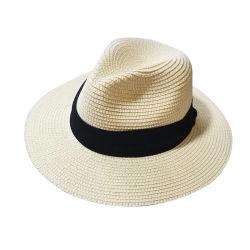 Papel de dama moda personalizada Panamá Playa de los hombres de paja sombreros Fedora sombrero de verano