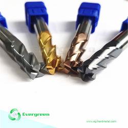 De hete Tussenvoegsels van het Carbide van de Snijder van het Malen van de Molen van het Eind van het Carbide van de Neus van de Bal HRC55 HRC60 van de Verkoop HRC45 Vlakke Stevige