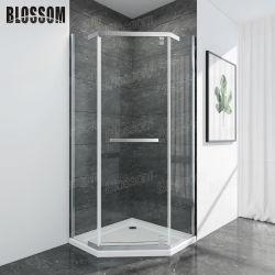Simple salle de bains 3 Salle de boîtier de pivot recto porte en verre transparent cabine de douche