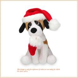 [إكسمس] كلب لعبة مع [سنتا] قبّعة [ستثفّ نيمل] قطيفة دمية كلب
