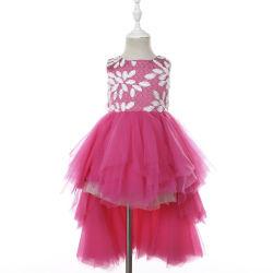 Роскошный горячий розовый летний сарафан латинской группы Dance Kids платья с Туту для девочек
