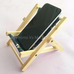 Titulaire de la plage de bois Fpromotion Téléphone Président verre cellulaire Stand