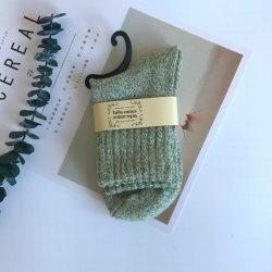 De warme Dikke Comfortabele Sokken van de Vrouw van de Wol van het Garen Paralled Thermische Merinos
