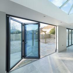 Складные открытые стиле алюминиевых Bifold переднего стекла двери