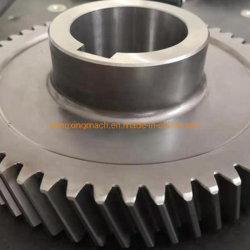 Косозубую шестерню из углеродистой стали с прямозубой цилиндрической шестерни сминания службы для понижающего редуктора
