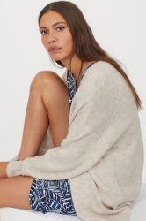 Les femmes de 70%30%Viscose chandail Cardigan en nylon avec des boutons (RS-028)