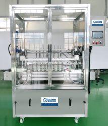 Botella de líquido automática máquina de envasado tapado con la línea de producción de etiquetas