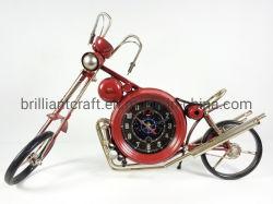 Orologi decorativi della retro di Harley del motociclo del modello del ferro di parete casa dell'orologio