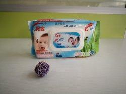 Haut de la qualité hygiénique de tissu de nettoyage visage lingettes humides avec couvercle