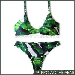2019 Novo Design Custom Bra e Sexy calções de banho com padrão