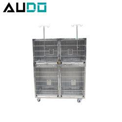 Clínica Veterinaria Veterinaria de acero inoxidable de la jaula para mascotas criadero de perros jaulas jaula para animales perro gato