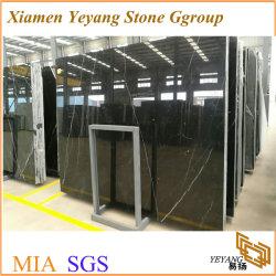 La Chine Nero Marquina dalle en marbre noir pour les revêtements de sol/Tile//comptoirs de l'escalier
