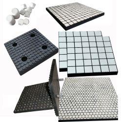 Al2O3 el 92% de baldosas de cerámica de alúmina en caucho de la placa de revestimiento de desgaste