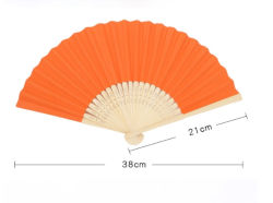 Papel personalizado o logotipo personalizado do ventilador do lado impresso personalizado a dobragem de bambu de logotipo do Ventilador Esquerdo