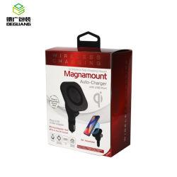 磁石が付いているカスタムクラムシェルの電話無線充電器のペーパー包装ボックス