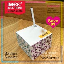 Logo Imee cadeau promotionnel de gros d'impression de papier personnalisé de la forme de blocs colorés Memo Cube