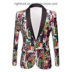 형식 중국 의복 공장에서 기어오르는 자수 Sequins 남자 `S 블레이저 코트 재킷 턱시도 한 벌