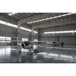 Galvanizado prefabricados de estructura de acero de la luz de colgador de mantenimiento de aeronaves