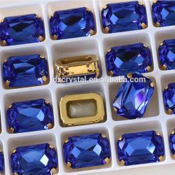 Jóias de cristal com pinos de pedra para costura de vestuário