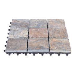 De draagbare Kunstmatige Bevloering van de Tegel van de Steen van de Tegel DIY van de Steen Natuurlijke