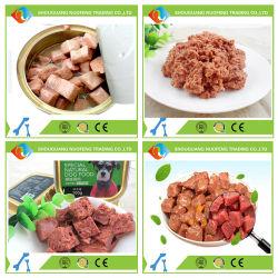 통조림으로 만들어진 주석 개밥 애완 동물 먹이 식사를 적시십시오