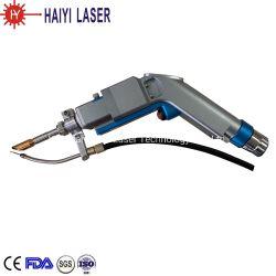 Ventas Woldwide 1000W Pistola de soldadura láser cabeza oscilante con Auto Alimentador de alambre