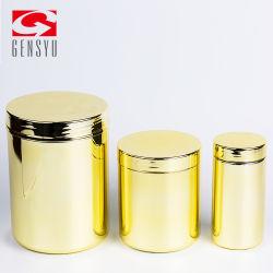 Gold chromierter HDPE 16oz Plastikkanister für Nahrung-Puder
