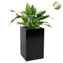 La decoración de jardín negro Metales Acero Sembradora Pot para plantas
