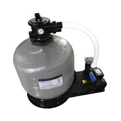 Une piscine pour montage supérieur de filtre à sable en fibre de verre avec pompe