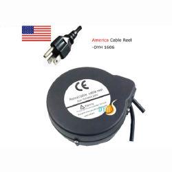 Nous Auto-Locking système Extension de câble d'alimentation Recoiler escamotable avec bouchon